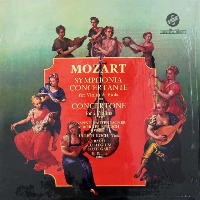 ラウテンバッハーらのモーツァルト/ヴァイオリンとヴィオラのための協奏交響曲ほか 仏VOX 3037 LP レコード