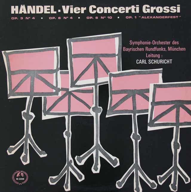 シューリヒトのヘンデル/合奏協奏曲集 英MMS 3037 LP レコード