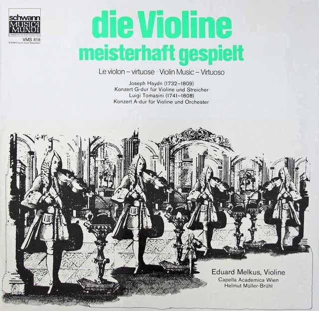 メルクスのハイドン&トマシーニ/ヴァイオリン協奏曲集 独Schwann 3037 LP レコード