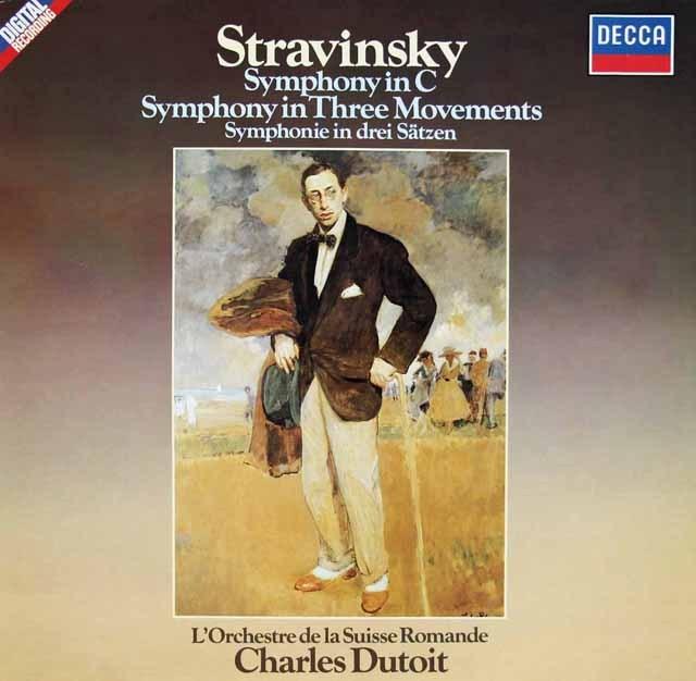 デュトワのストラヴィンスキー/交響曲ハ長調ほか 独DECCA 2821 LP レコード