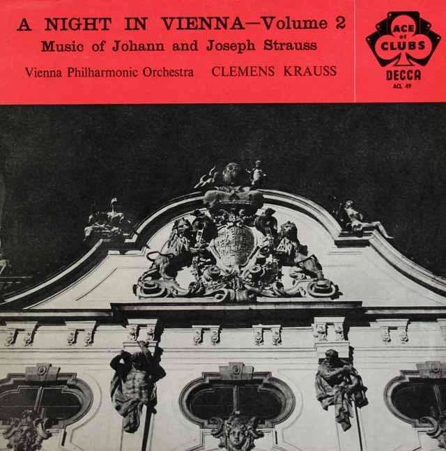 クラウスの「ウィーンの一夜」2 (J.シュトラウス音楽集) 英DECCA 3296 LP レコード