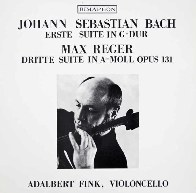 フィンクのバッハ/無伴奏チェロ組曲第1番ほか スイスRIMAPHON 3037 LP レコード