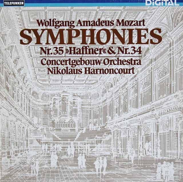 アーノンクールのモーツァルト/交響曲第34&35番「ハフナー」 独TELEFUNKEN 3297 LP レコード