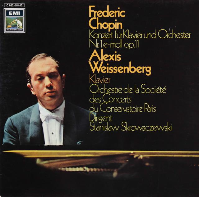 ワイセンベルク&スクロヴァチェフスキのショパン/ピアノ協奏曲第1番 独EMI 2749 LPレコード