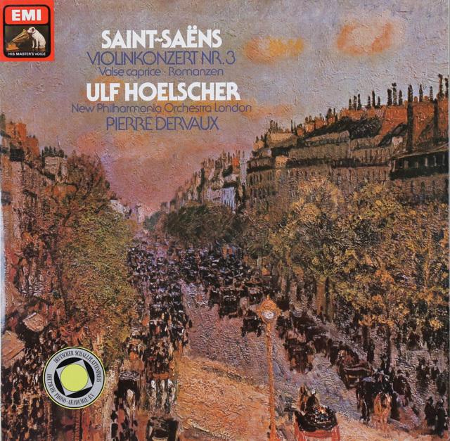 ヘルシャー&デルヴォーのサン-サーンス/ヴァイオリン協奏曲第3番ほか 独EMI 2749 LP レコード