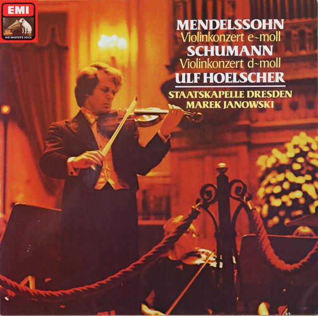 ヘルシャー&ヤノフスキのメンデルスゾーン&シューマン/ヴァイオリン協奏曲 独EMI 2749 LP レコード