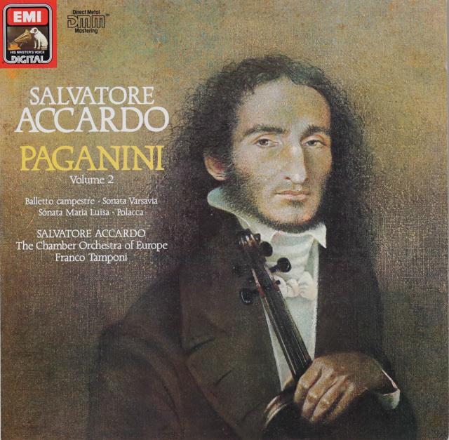 アッカルドのパガニーニ(第2集)  独EMI  3287 LP レコード