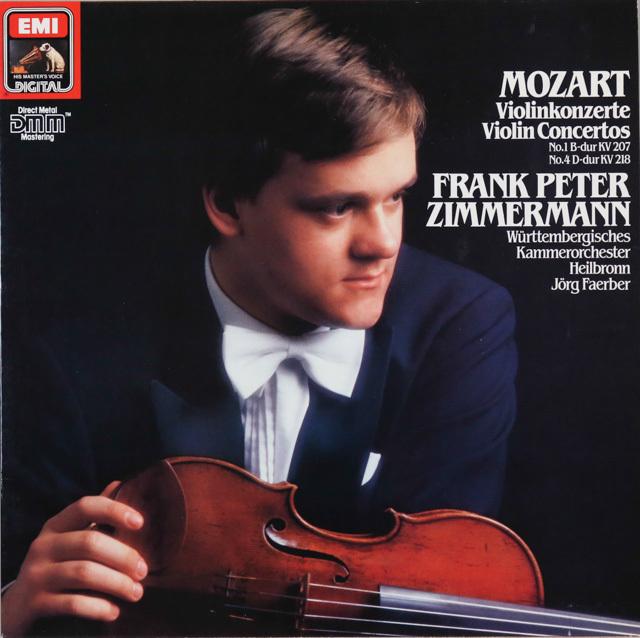 ツインマーマンのモーツァルト/ヴァイオリン協奏曲第1&4番 独EMI 3287 LP レコード
