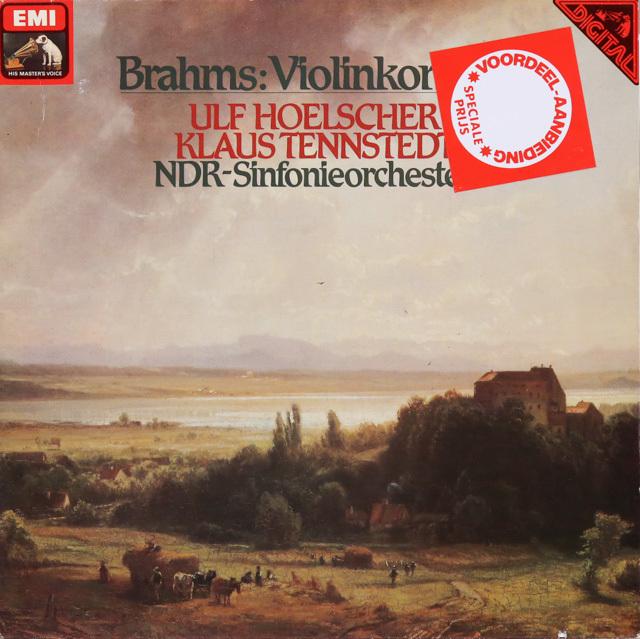 ウルフ・ヘルシャー&テンシュテットのブラームス/ヴァイオリン協奏曲 独EMI 3287 LP レコード