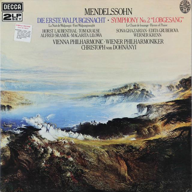 【オリジナル盤】 ドホナーニのメンデルスゾーン/交響曲第2番「讃歌」ほか 英DECCA 3287 LP レコード