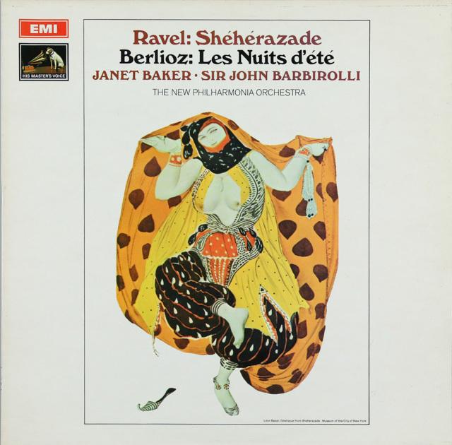 ベイカー&バルビローリのベルリオーズ/「夏の夜」ほか 英EMI 3287 LPレコード