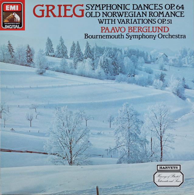 ベルグルンドのグリーグ/交響的舞曲ほか 英EMI 3287 LP レコード