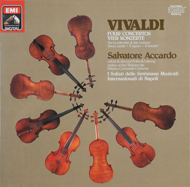 アッカルドのヴィヴァルディ/協奏曲集  独EMI  2749 LP レコード