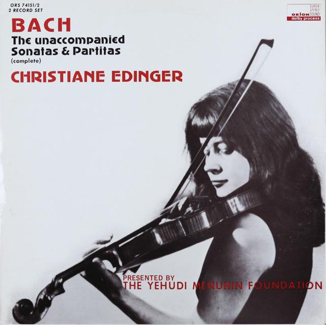 エディンガーのバッハ/無伴奏ヴァイオリンソナタとパルティータ全曲 米ORION 3287 LP レコード