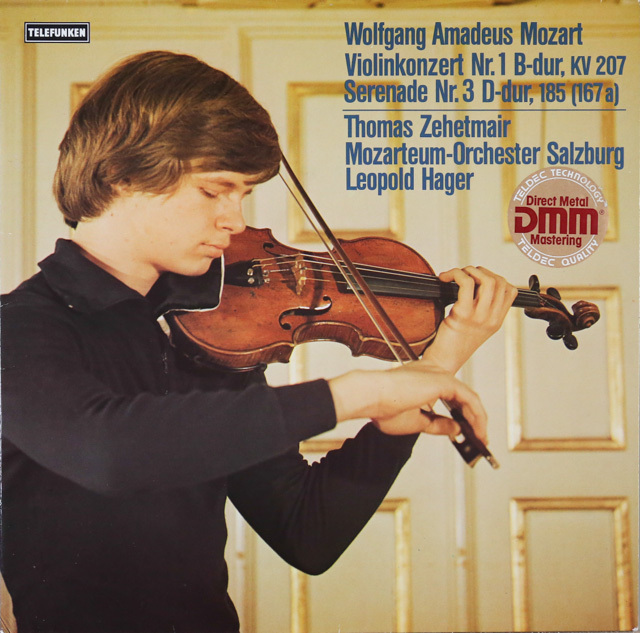 ツェートマイヤーのモーツァルト/ヴァイオリン協奏曲第1番ほか 独telefunken 3287 LP レコード