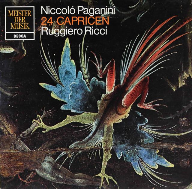 リッチのパガニーニ/24のカプリース 独DECCA 3287 LP レコード