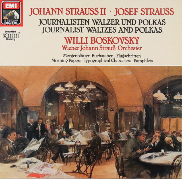 ボスコフスキーのシュトラウス/ワルツ&ポルカ集 独EMI 3287 LP レコード
