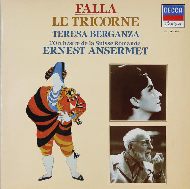 ベルガンサ&アンセルメのファリャ/「三角帽子」ほか 仏DECCA 2750 LP レコード