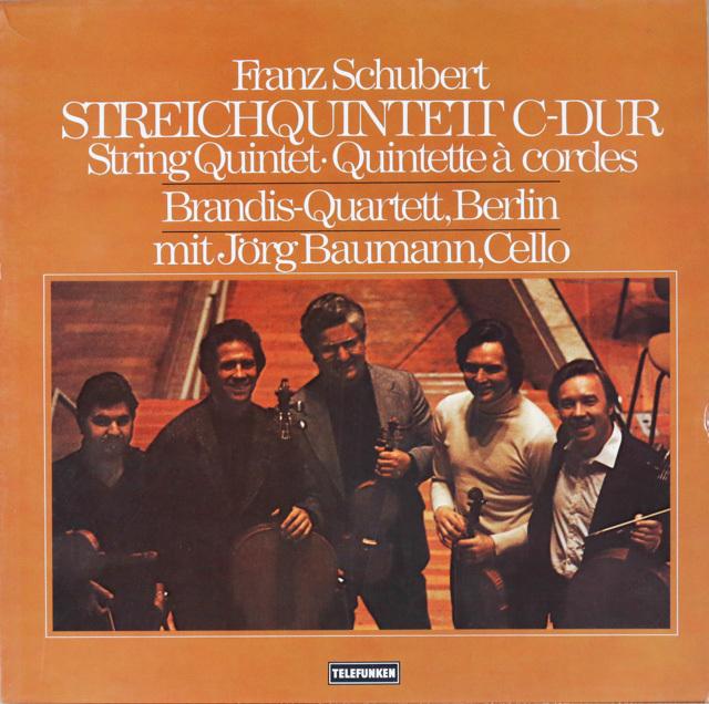 バウマン&ブランディス四重奏団のシューベルト/弦楽五重奏曲 独TELEFUNKEN 3286 LP レコード