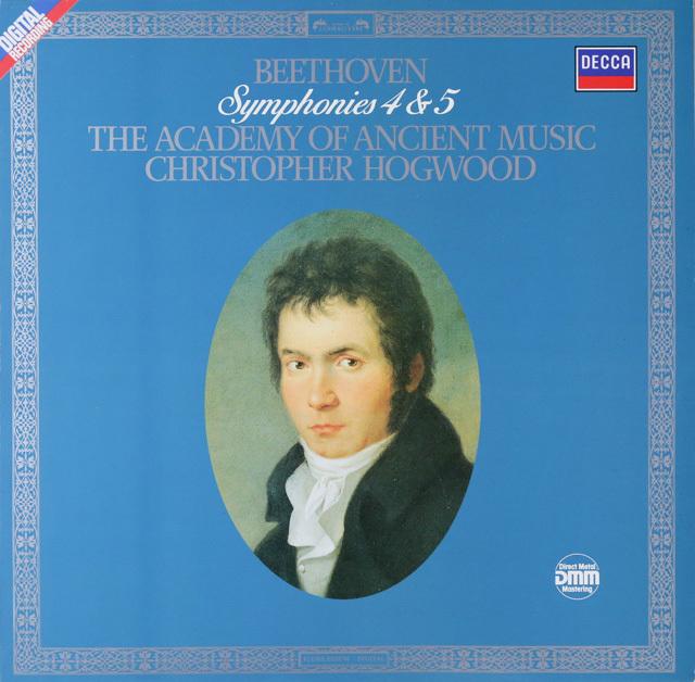 ホグウッドのベートーヴェン/交響曲第4&5番「運命」 独DECCA 2752 LP レコード