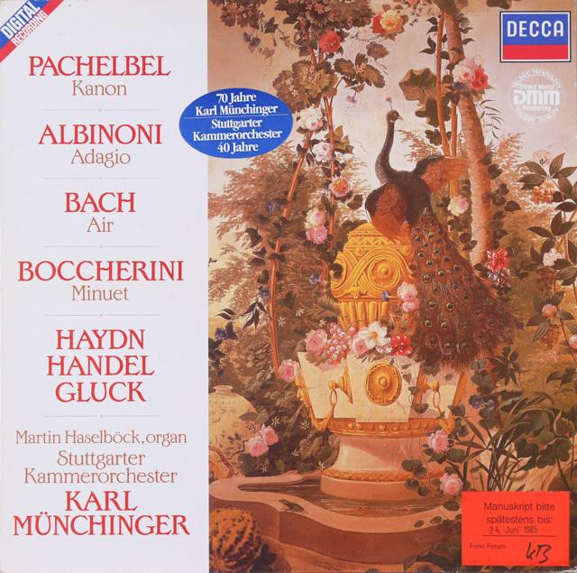 ミュンヒンガーのパッヘルベル/カノンほか 独DECCA 2752 LP レコード