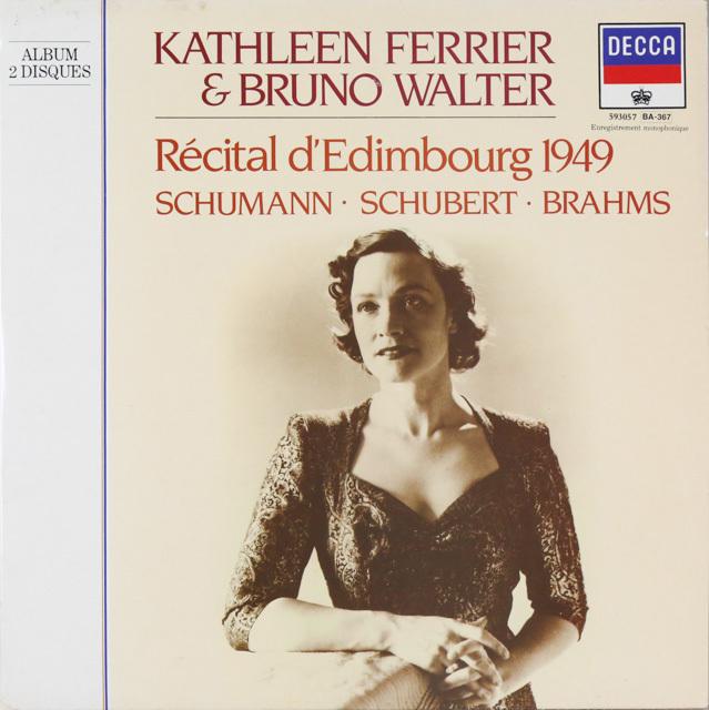 フェリア&ワルターの1949年エジンバラ・リサイタルほか 仏DECCA 3286 LP レコード