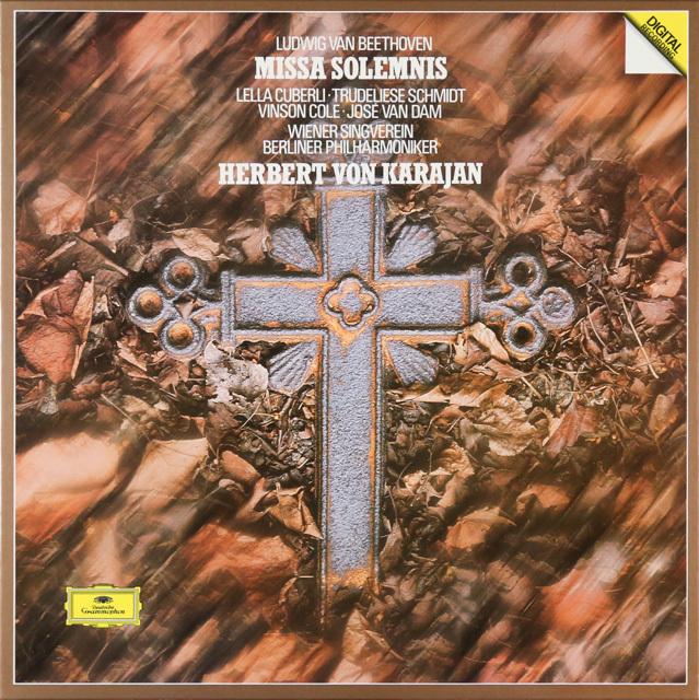 カラヤンのベートーヴェン/ミサ・ソレムニス 独DGG 2752 LP レコード