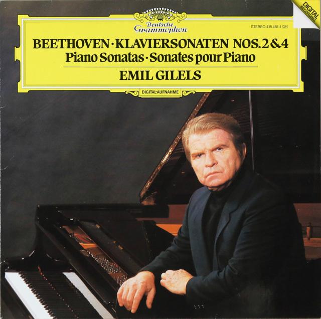 ギレリスのベートーヴェン/ピアノソナタ第2&4番 独DGG 2752 LP レコード