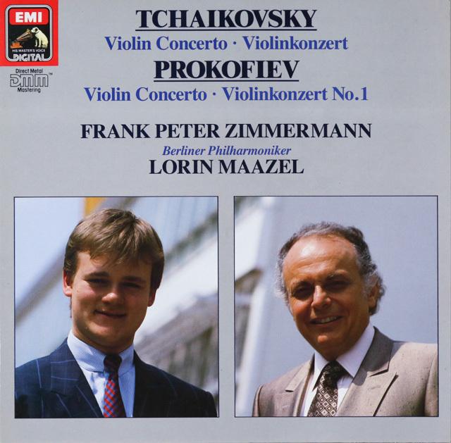 ツィンマーマン&マゼールのチャイコフスキー&プロコフィエフ/ヴァイオリン協奏曲集 独EMI 3299 LP レコード