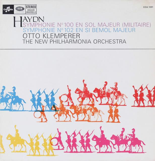 クレンペラーのハイドン/交響曲第100番「軍隊」&第102番 仏Columbia 2801 LP レコード
