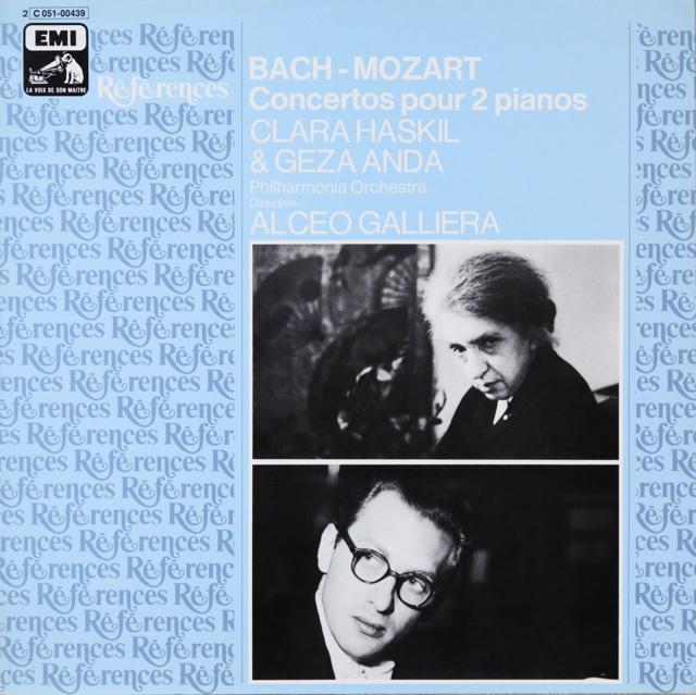 ハスキル&アンダのモーツァルト/2台のピアノのための協奏曲ほか 仏EMI(VSM) 3299 LP レコード