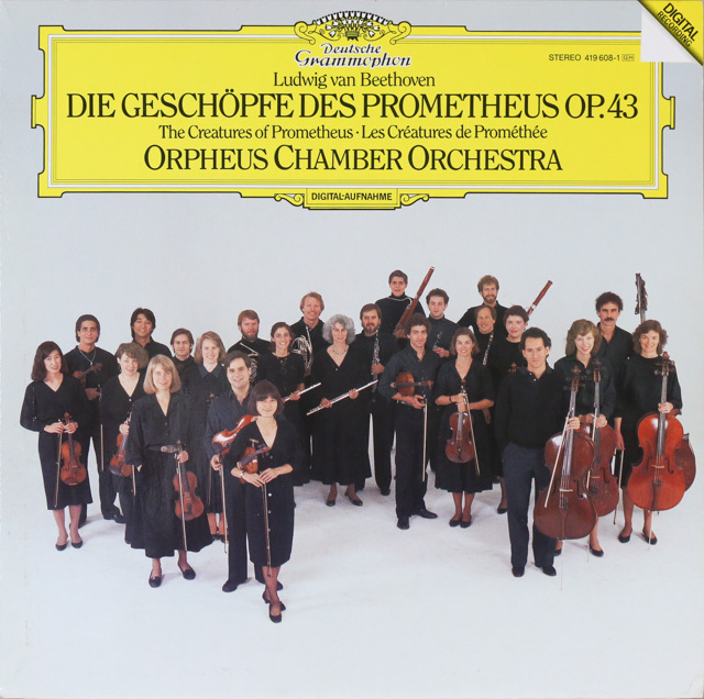 オルフェウス室内管弦楽団のベートーヴェン/「プロメテウスの創造物」  独DGG 2801 LP レコード