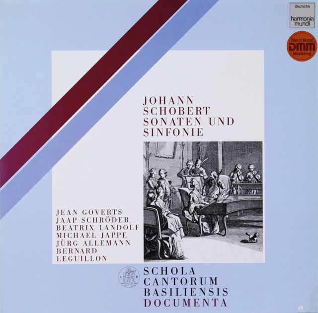 バーゼル・スコラ・カントルムのショーベルト/交響曲&チェンバロソナタ集 独HM 2802 LP レコード