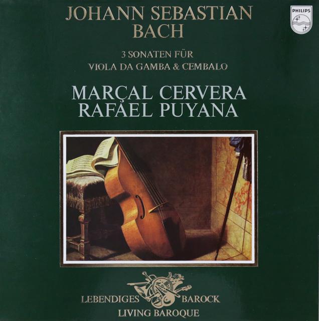 セルヴェラ&プヤーナのバッハ/ヴィオラ・ダ・ガンバのためのソナタ集 蘭PHILIPS 3299 LP レコード