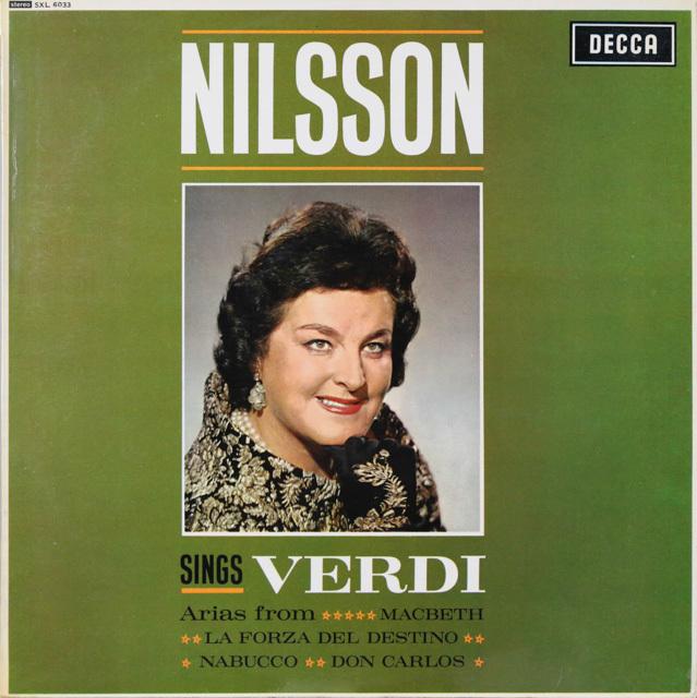 【オリジナル盤】 ニルソンのヴェルディ/オペラ・アリア集 英DECCA 3299 LP レコード