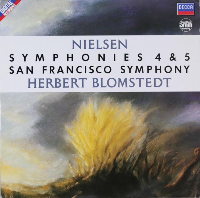 ブロムシュテットのニールセン/交響曲第4&5番 独DECCA 2802 LP レコード