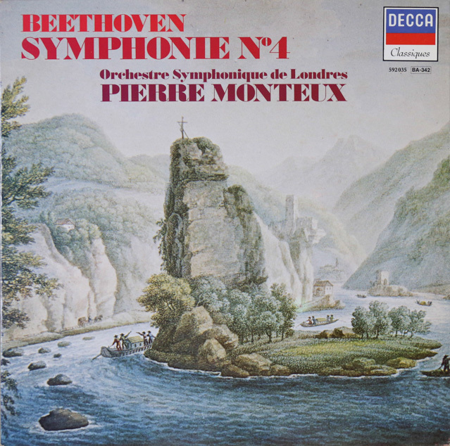 モントゥーのベートーヴェン/交響曲第4番 仏DECCA 2802 LP レコード