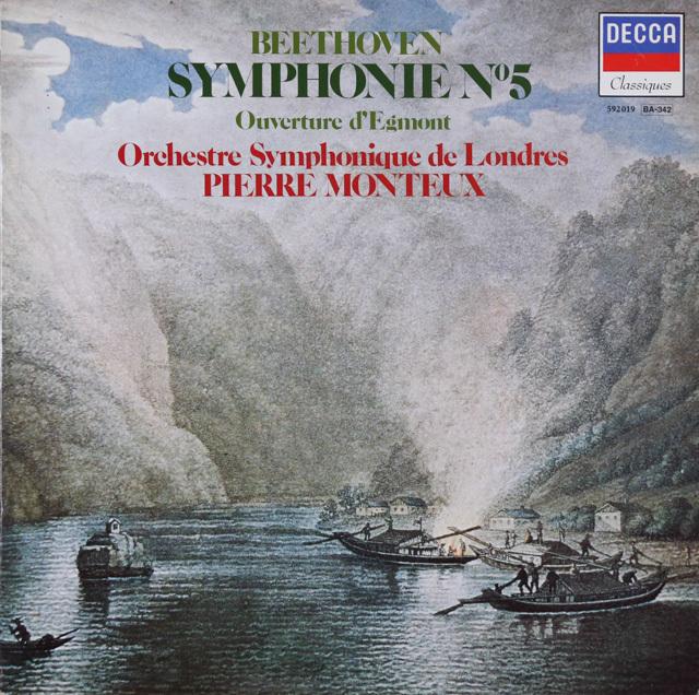 モントゥーのベートーヴェン/交響曲第5番ほか 仏DECCA 2802 LP レコード