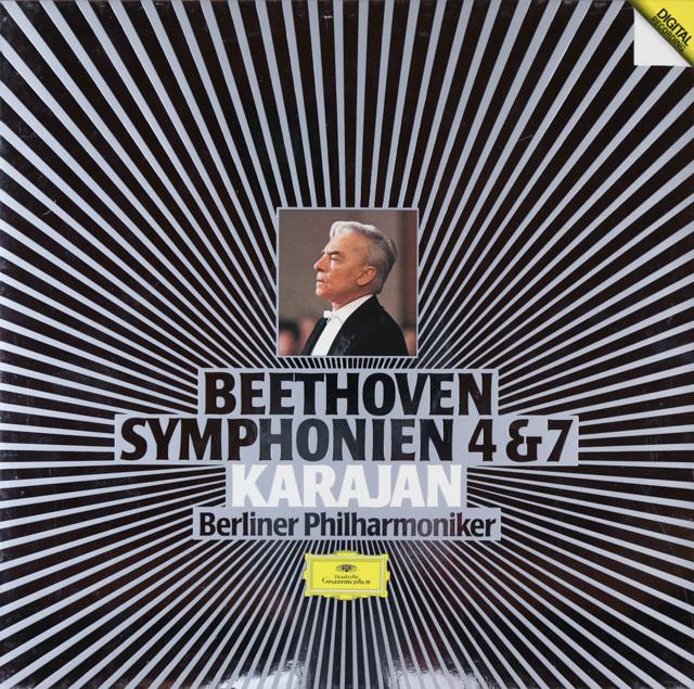 カラヤンのベートーヴェン/交響曲第4&7番 独DGG 2802 LP レコード