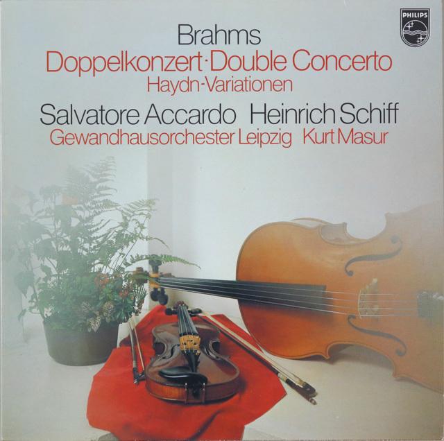 アッカルド&シフらのブラームス/ヴァイオリンとチェロのための二重協奏曲ほか 蘭PHILIPS 2754 LP レコード