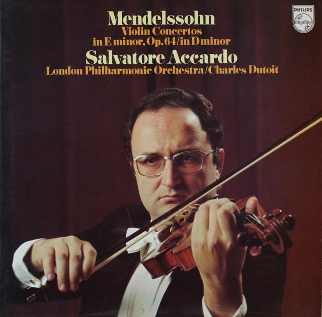 アッカルドのメンデルスゾーン/ヴァイオリン協奏曲集 伊PHILIPS 2754 LP レコード