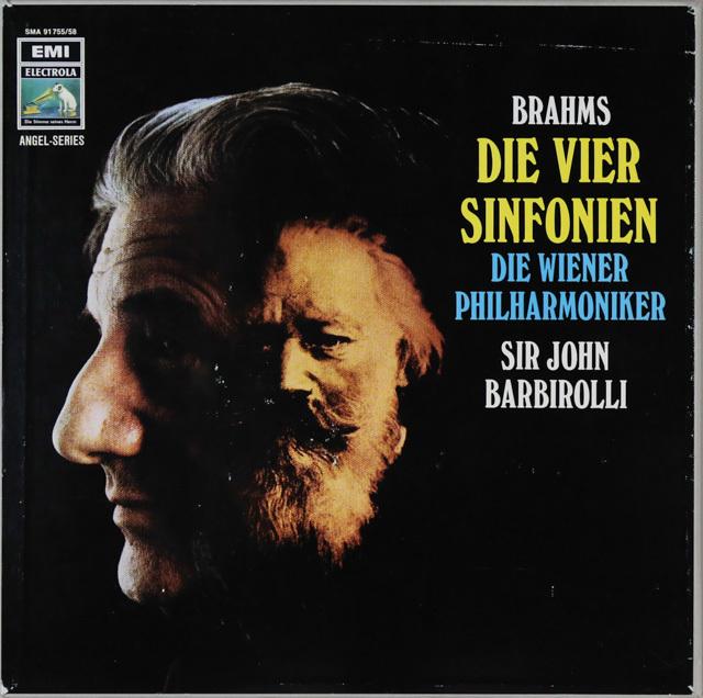 バルビローリのブラームス/交響曲全集 独EMI 2754 LP レコード