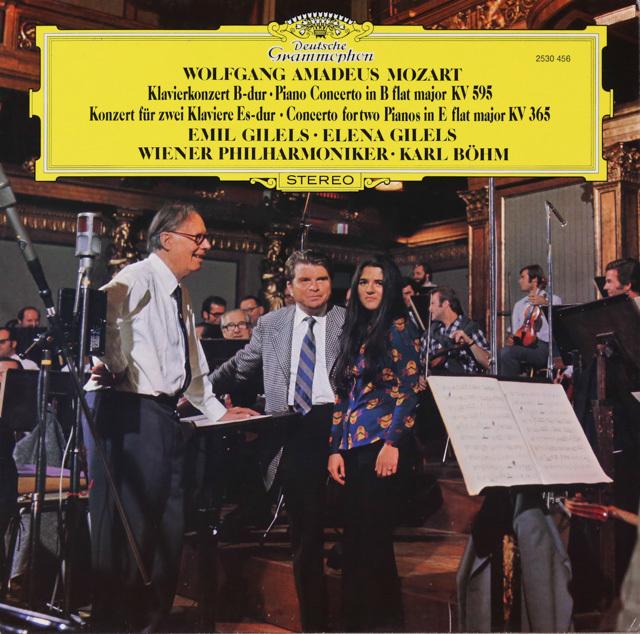 ギレリス父娘&ベームのモーツァルト/2台のピアノのための協奏曲ほか 独DGG 3286 LP レコード