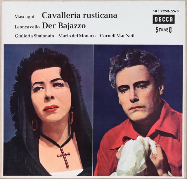 デル=モナコの「カヴァレリア」&「道化師」 独DECCA 2753 LP レコード