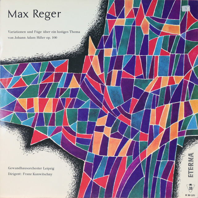 コンヴィチュニーのレーガー/ヒラーの主題による変奏曲 独ETERNA 3286 LP レコード