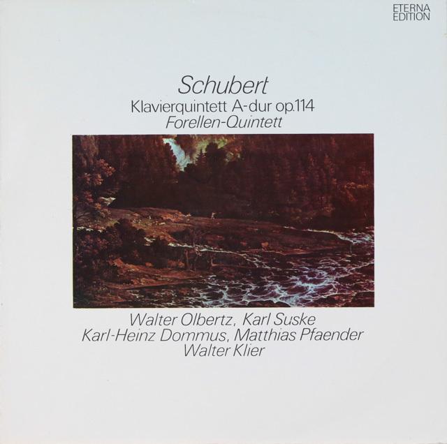 オルベルツ、ズスケらのシューベルト/ピアノ五重奏曲「鱒」 独ETERNA 2753 LP レコード