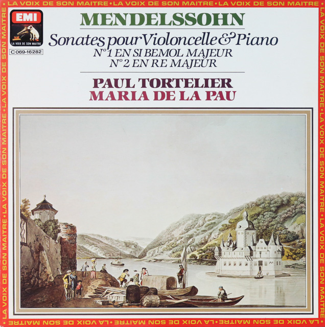 トルトゥリエのメンデルスゾーン/チェロソナタ集 仏EMI(VSM) 2753 LP レコード