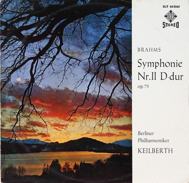 カイルベルトのブラームス/交響曲第2番 独TELEFUNKEN 2753 LP レコード