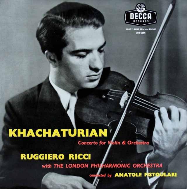 リッチ&フィストゥラーリのハチャトリアン/ヴァイオリン協奏曲 独DECCA 3297 LP レコード