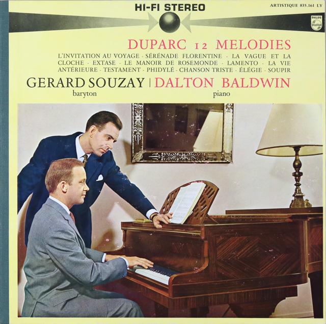 スゼー&ボールドウィンのデュパルク/歌曲集 仏PHILIPS 3299 LP レコード